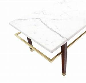 Harvey probber marble top rectangular coffee table for for Marble top coffee table rectangle
