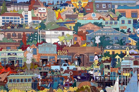 mexican mural artists a 36 foot ceramic tile mural in monterey california by