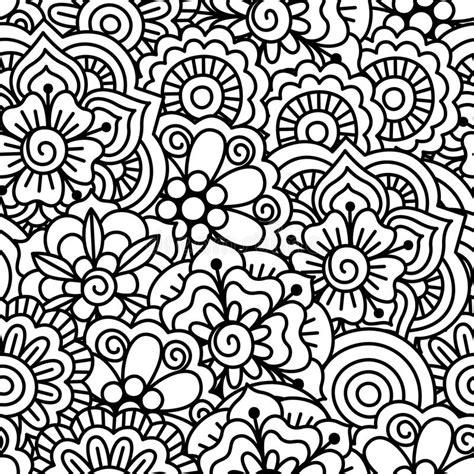 naadloze zwart witte achtergrond vector illustratie illustratie bestaande uit bloei kromme