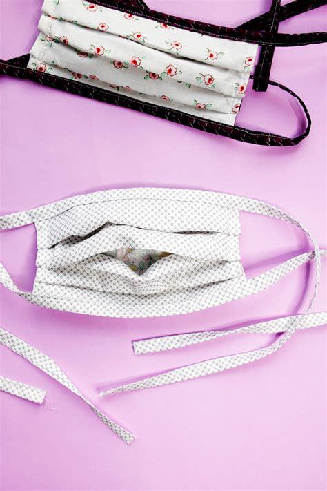 sew  face mask  filter pocket  elastic