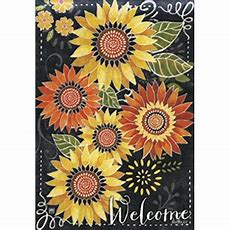 Breeze Art Sunflower Chalkboard Garden Flag 32771