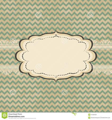 Vintage Card Design Stock Images Image