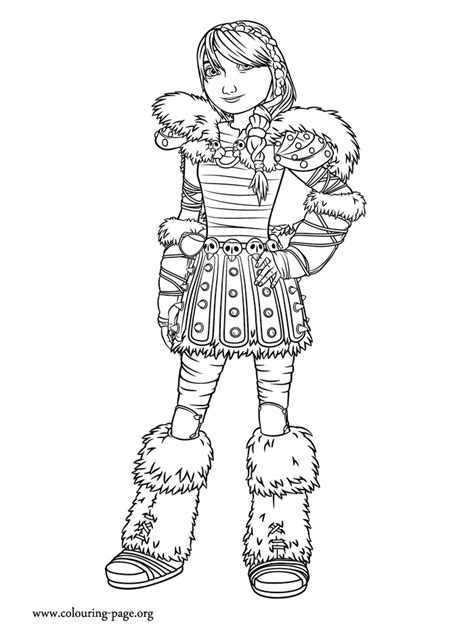 train  dragon  astrid coloring page