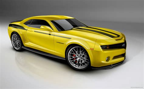 50s Car Wallpaper 1080p by 2010 Camero Yellow Wallpaper Hd Car Wallpapers Id 426