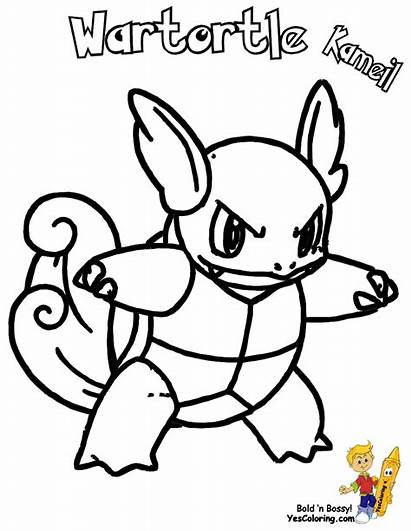 Pokemon Squirtle Coloring Wartortle Pages Printable Blastoise
