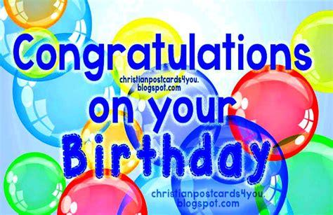congratulations   birthday christian cards