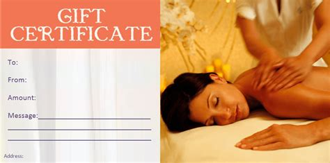 For therapists who are just starting out, a massage intake form template is a great resource. Spa Gift Certificate Templates | Massage gift certificate, Spa gift certificate, Gift ...