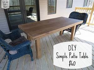 Let39s just build a house diy simple patio table details for Easy diy patio table