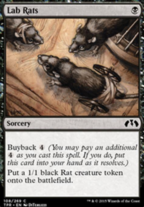 rat deck mtg tapped out black rat horde casual mtg deck