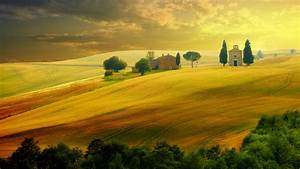 Wallpaper, Tuscany, Italy, Hills, Field, 5k, Nature, 16281