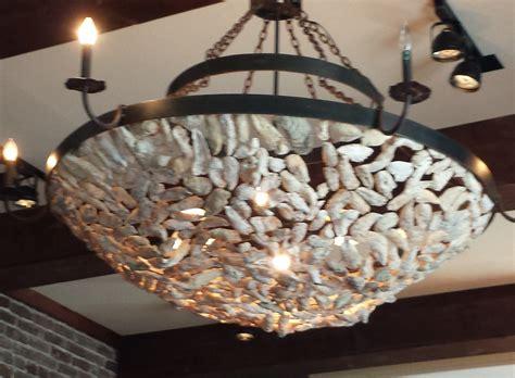 lighting project week  creative oyster shell chandelier lesstestingmorelearningcom