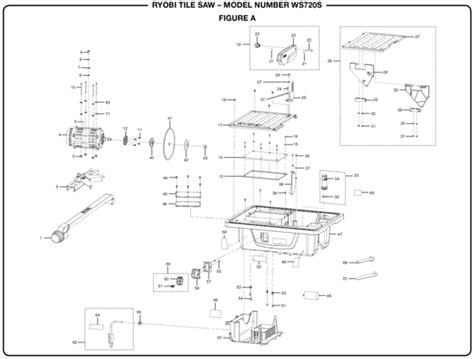Ryobi 7 Tile Saw Assembly by Ryobi Ws720s Tile Saw Parts And Accessories Partswarehouse