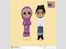 Costume clipart malay Pencil and in color costume