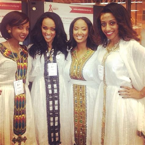 The ancient hairstyles and dresses worn by Habesha women