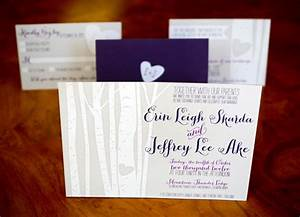 erin jeff39s sweet colorado aspen tree wedding invitations With tree stump wedding invitations