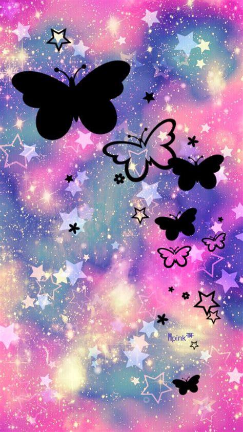 butterfly garden galaxy iphoneandroid wallpaper  created