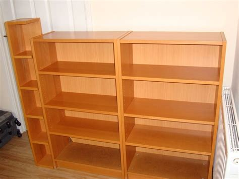 Ikea Corner Bookcase by Two Matching Ikea Beech Effect Billy Bookcase With Ikea