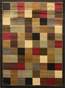 Image is loading contemporary geometric squares 5x8 area for Modern carpet pattern red