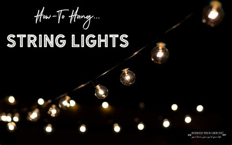 how to hang string lights with exmark redeem