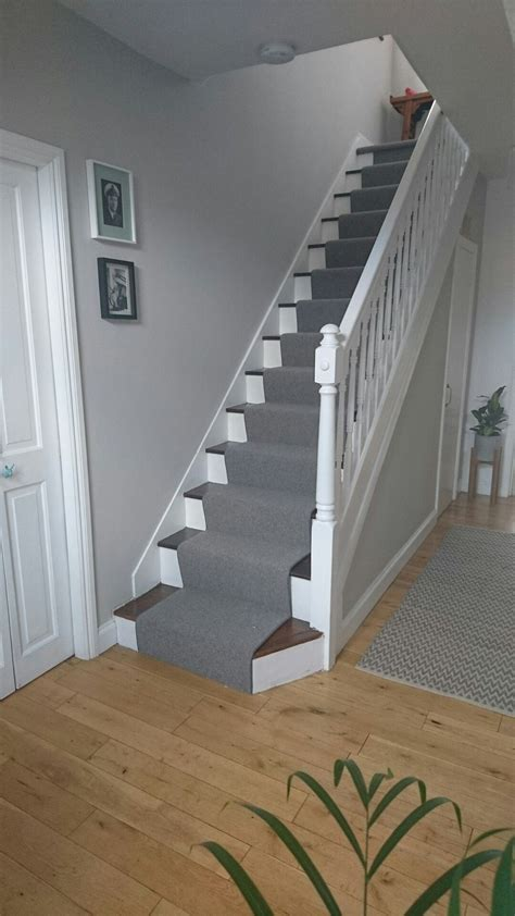 Flur Streichen Grau hallway finished at last grey runner and farrow and