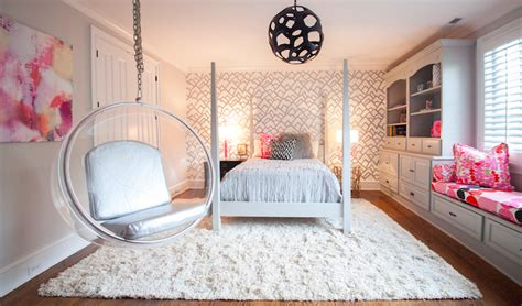 Pink And Gray Girls Room-contemporary-girl's Room