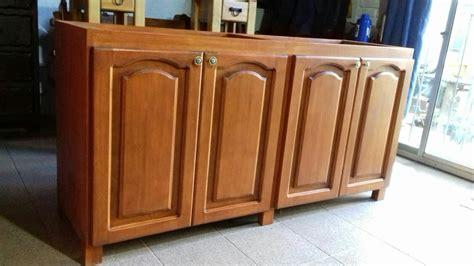 mueble bajo mesada  cocina en madera maciza rustica