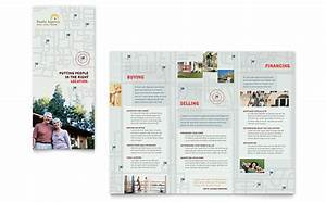 real estate agent realtor brochure template design With real estate booklet template
