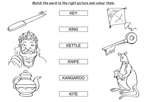 words that start with k preschool things with letter k letter simple example 999