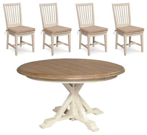 coastal dining room sets coastal white oak dining room set