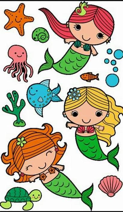 Mermaid Drawing Simple Clipart Drawings Clip Easy