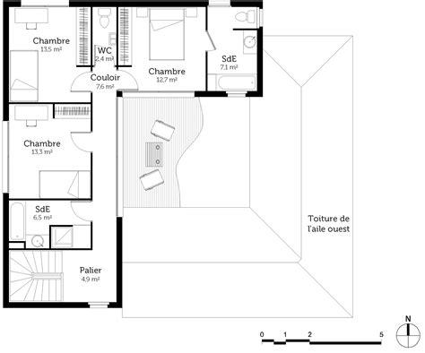 plan maison 224 233 tage avec patio ooreka