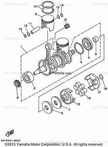 Yamaha Waverunner 1995 Oem Parts Diagram For Crankshaft Piston