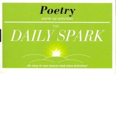 The Daily Spark Poetry Warmup Activities  Sparknotes Editors 9781411402225
