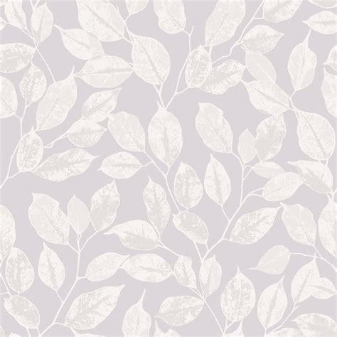 rasch leaf pattern wallpaper modern metallic silver leaves