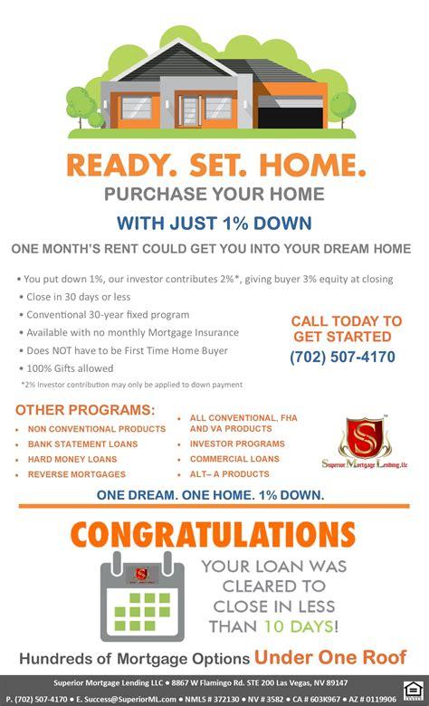 conventional loans superior mortgage lending llc