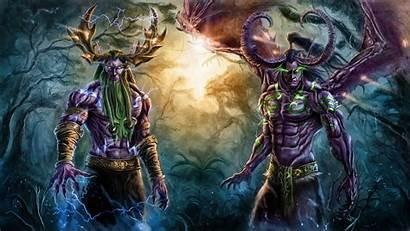 Stormrage Malfurion Warcraft Illidan Horns Magic 1080