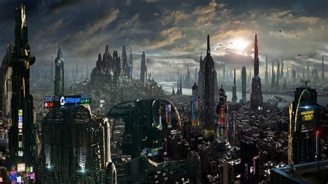 Guardians Of The Galaxy Wallpaper Matte Painting Future City Amazing Facts By Rich35211 On Deviantart