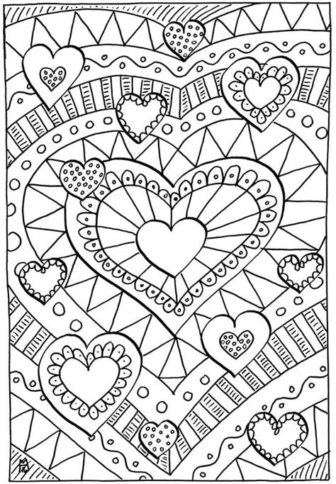 valentines coloring pages happiness  homemade