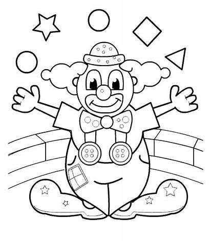 Clown Coloring Pages Evil Clowns Printable Getcolorings
