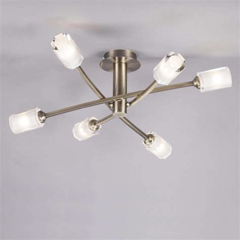 octi semi flush ceiling light antique brass from litecraft
