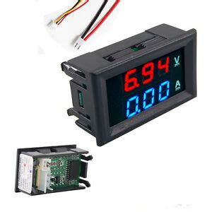 preptec dc 0 100v 10a digital voltmeter ammeter dual display blue led 729557492488 ebay