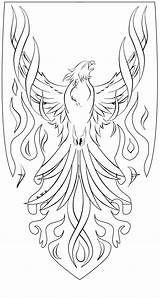 Phoenix Coloring Pages sketch template