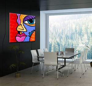 Tableau Peinture Pas Cher : tableau moderne pop art girl ~ Teatrodelosmanantiales.com Idées de Décoration