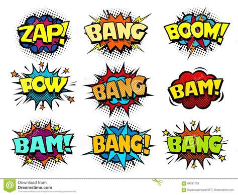 Comic Book Speech Bubbles Cool Blast Crash Sound