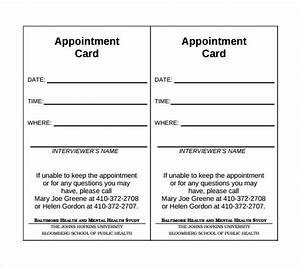sample appointment cards bing images With medical appointment card template free