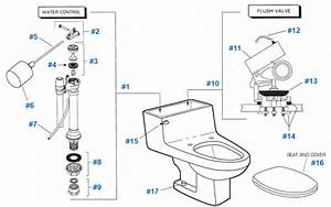 American Standard Toilet Repair Parts For Lexington Series