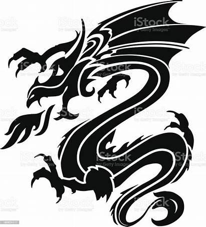 Stencil Dragon Stencils Tattoo Tattoos Plantillas Istock