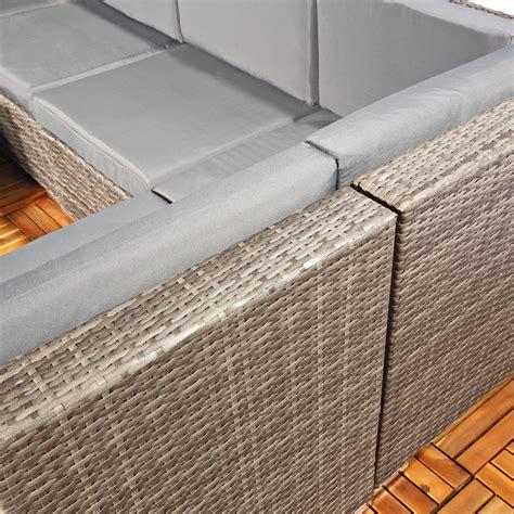polyrattan lounge grau polyrattan sofa sitzgruppe lounge grau kaufen bei mucola gmbh