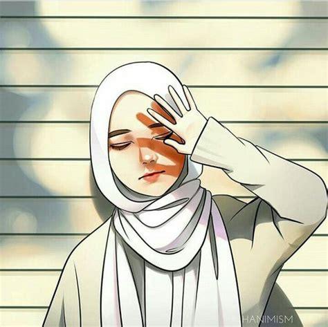 wallpaper anime hijab keren gambar ngetrend  viral
