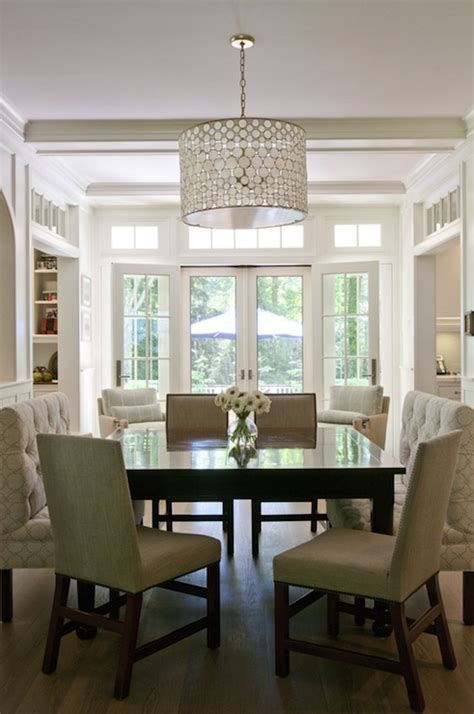 square dining table transitional dining room